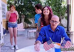 Brunette teen rough fuck Awesome 4th Of July Threesome - Aspen Rae