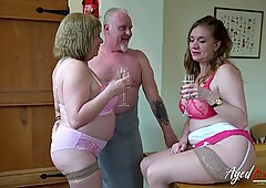 AgedLove Lily May and Trisha in hard threesome with boyfriend