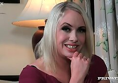 Ugly mature blonde whore Sookie Blues gives head to her stud