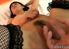 Japanese babe loves cock Uncensored