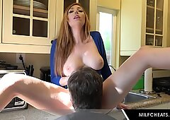Milf With Awesome Big Tits Rides Cock
