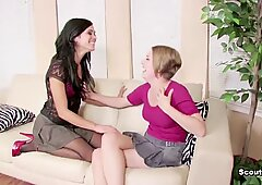 German Step-Mom Show Her Step-Daughter How To Fuck